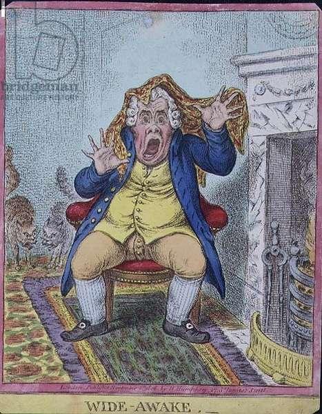 """""""Wide Awake"""", pub. by Hannah Humphrey, 1806 (etching)"""