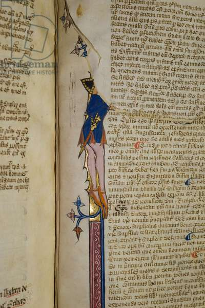 Ms. New Coll 242, f.178r, 'Commentary on Aristotle's Politics' by Walter Burley (pen & ink on vellum)