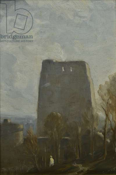 Oxford Castle, 1905 (oil on canvas)