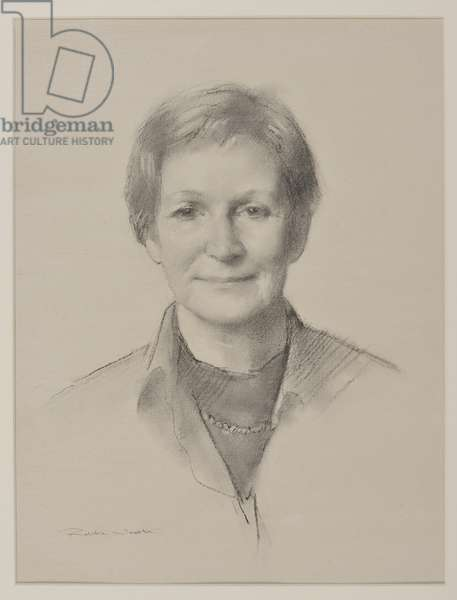 Caroline Thomas, Home Bursar, 2017 (charcoal drawing)