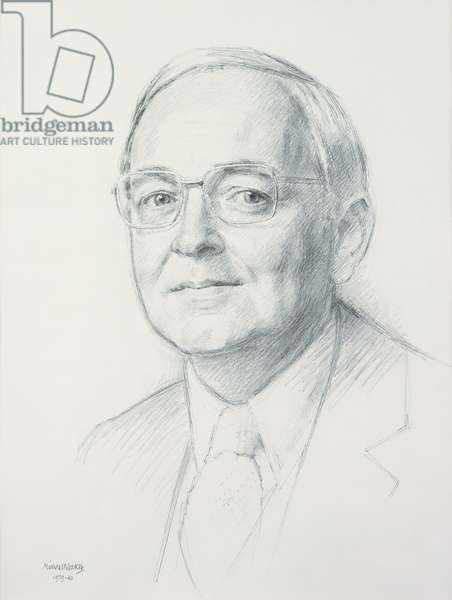Head and Shoulders of Gary Bennett, 1979-80 (graphite on paper)