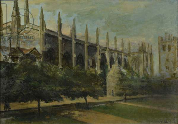 New College, Oxford, (oil on canvas)