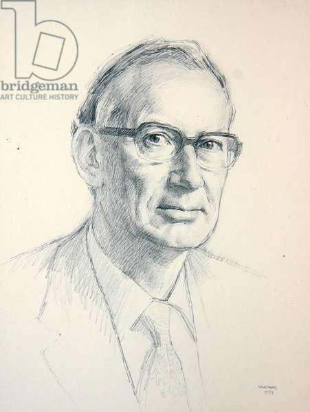 L.A.K. Staveley, 1973 (pencil on paper)