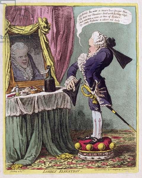 """""""Lordly Elevation"""", pub. by Hannah Humphrey, 1802 (etching)"""
