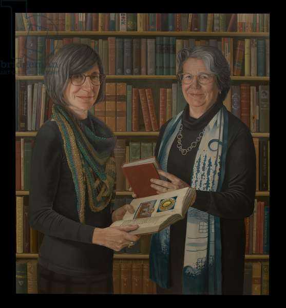 Caroline Kay & Ruth Mazo Karras, 2019 (oil on canvas)