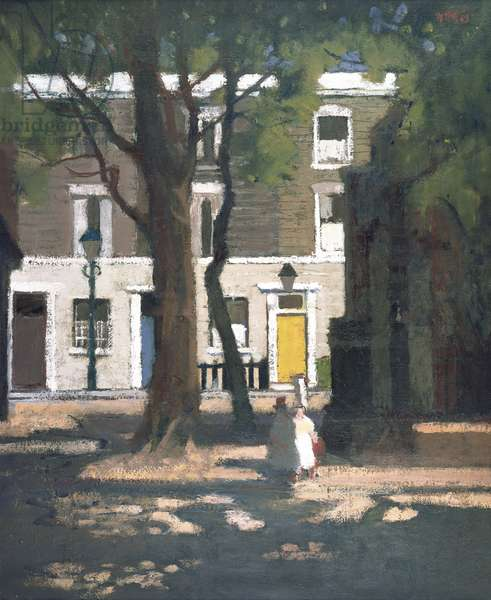 Corner in Chelsea (oil on canvas)