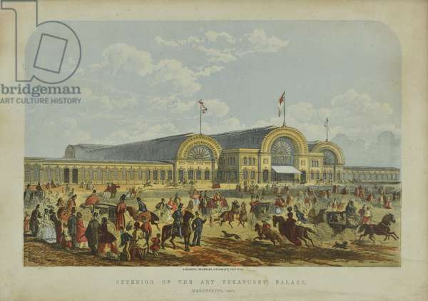 Exterior of the Art Treasures' Palace, 1851 (coloured lithograph)