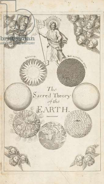 Frontispiece from 'The Theory of the Earth' by Thomas Burnet, London, 1684 (engraving)