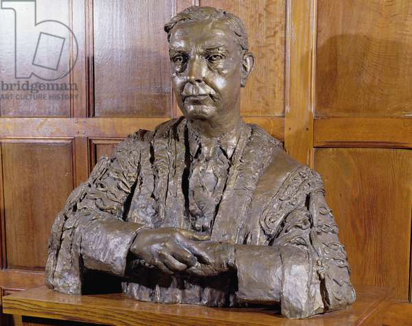 Portrait bust of Walter Russell Brain, 1st Baron Brain (1895-1966) Honorary Fellow of New College, Oxford (bronze)