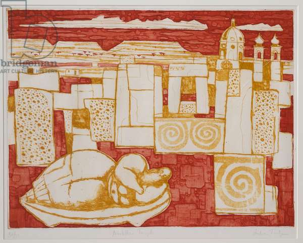 Neolithic Temple (aquatint)