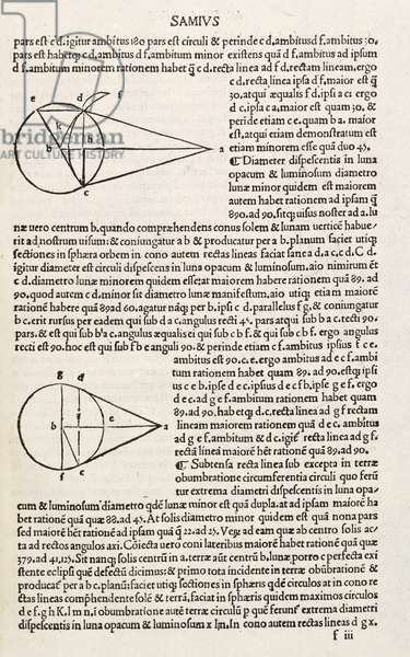 Page from 'Logica (de Astrolaeo Aristarchi)' by Nikephoros Blemmydes, Venice 1498 (print)