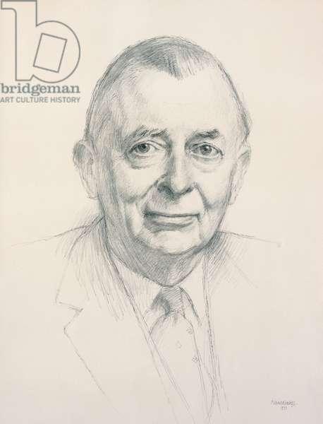 Sir Folliott Sandford KBE CHG, 1973 (graphite on white paper)