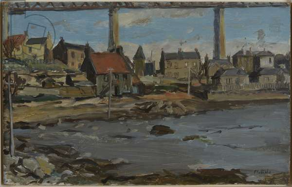 North Queensferry (oil on board)