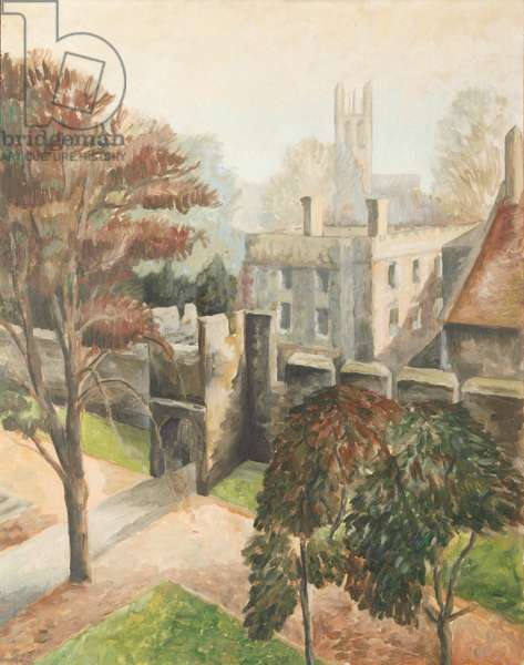 View of New College, 1953 (oil on canvas)
