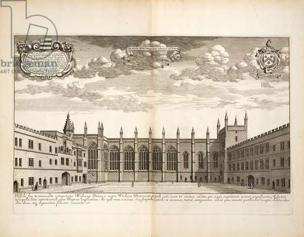 New College, plate 20 from 'Oxonia Illustrata' by David Loggon, Oxford 1675 (engraving)