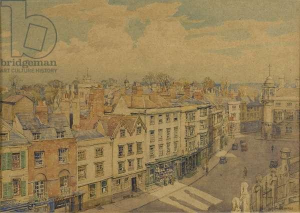 Broad Street, Oxford (w/c on paper)