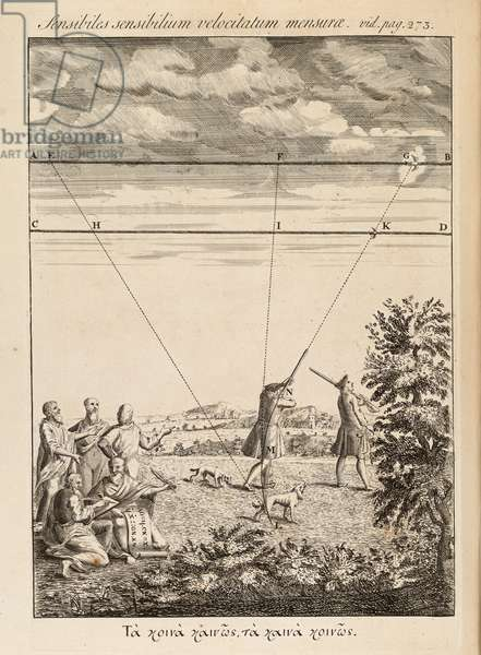 Frontispiece from 'The Method of Fluxons and Infinite Series' by Isaac Newton, London, 1736 (engraving)