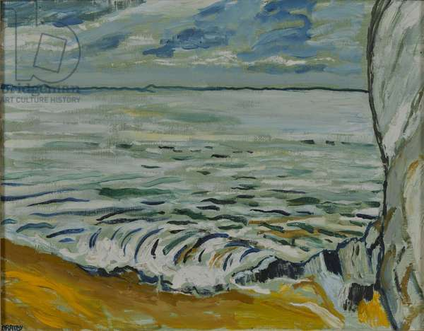 The Sea, Beach and the Rock, 1969 (oil on canvas)
