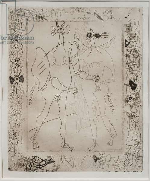 Hesiod's Theogony (etching)