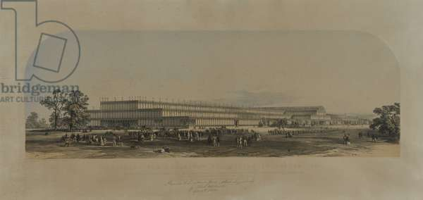 Building for the Great Exhibition in London, 1851 (coloured lithograph)