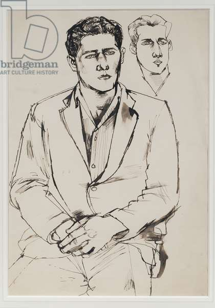 A Young Man, 1950 (pen & ink on paper)