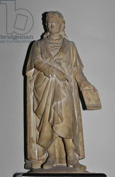 Sir Isaac Newton, 1857 (plaster maquette)