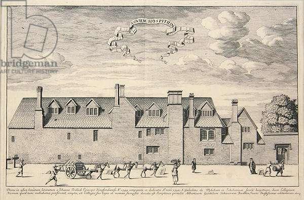 Novum Hospitium in 1369 (engraving)