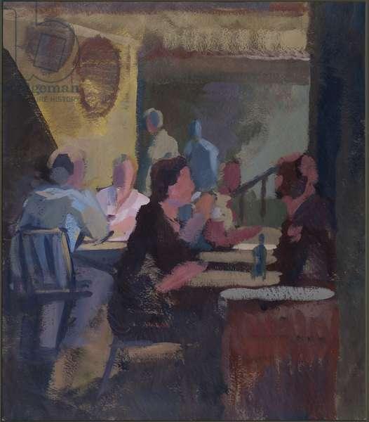 Cafe Society - Gordon's Wine Bar (gouache on paper)