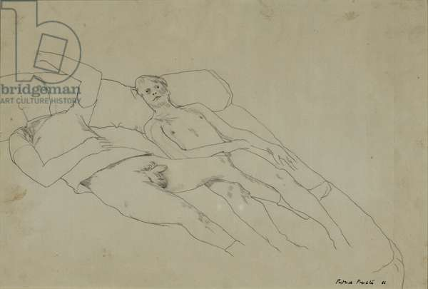 Two Nude Men, 1966 (pencil on paper)