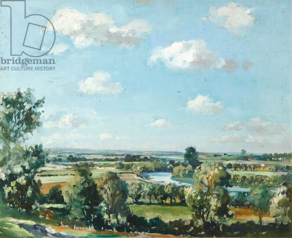 From Sinoden Hill, Berkshire, 1951 (oil on board)