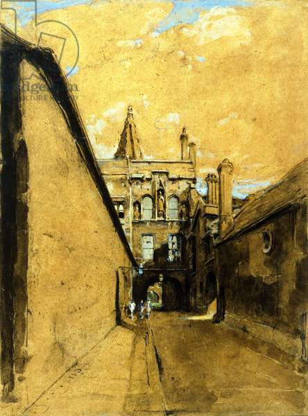 New College Lane Gate, 1903 (w/c & pencil on paper)