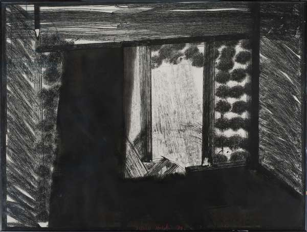 All Alone in the Museum, 1979 (litho)
