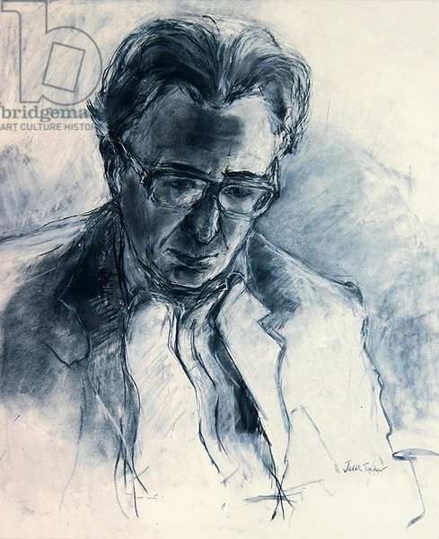Saul Rose, 1990 (charcoal and chalk on white)