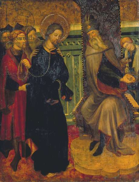 Christ before Pilate, c.1420-1425 (tempera on panel)
