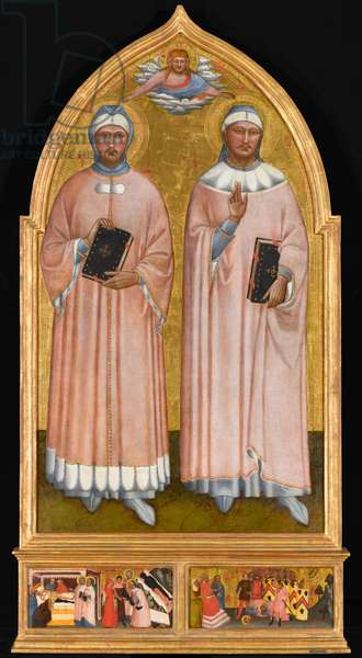 St. Cosmas and St. Damian, c.1370-1375 (tempera and gold leaf on panel)
