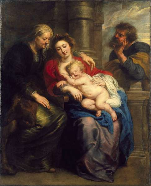The Holy Family with St. Anne, c.1630-1635 (oil on canvas)