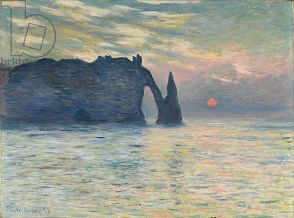 The Cliff, Étretat, Sunset, 1882-1883 (oil on canvas)
