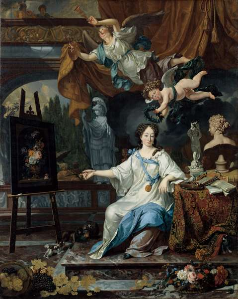 Allegorical Portrait of an Artist in Her Studio, c.1675-1685 (oil on canvas)