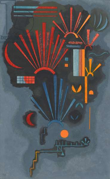 Zunehmen, 1933 (Oil, egg tempera, and ink on paper)