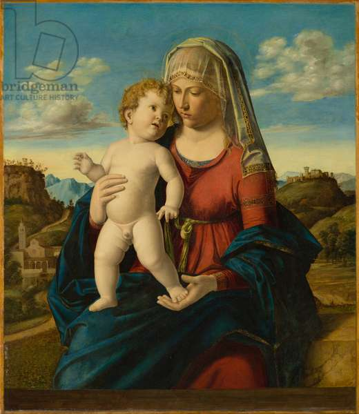 Madonna and Child in a Landscape, c.1496-1499 (oil on panel)