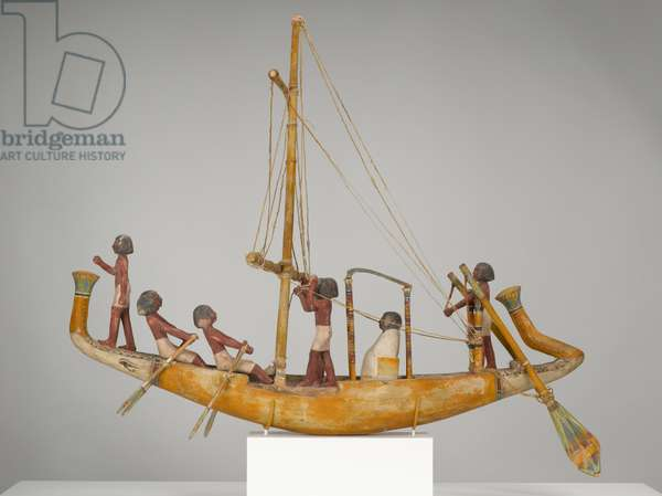Model of a Boat, c.2181-1880 BC (wood with gesso, paint, and twine)