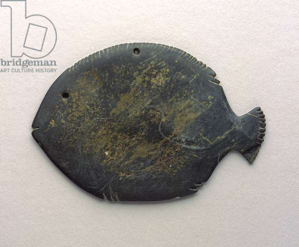 Cosmetic Palette in the Form of a Fish, c.3500-3150 BC (greywacke)