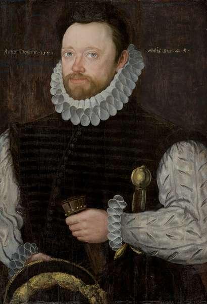 Portrait of a Man, 1581 (oil on pine wood panel)