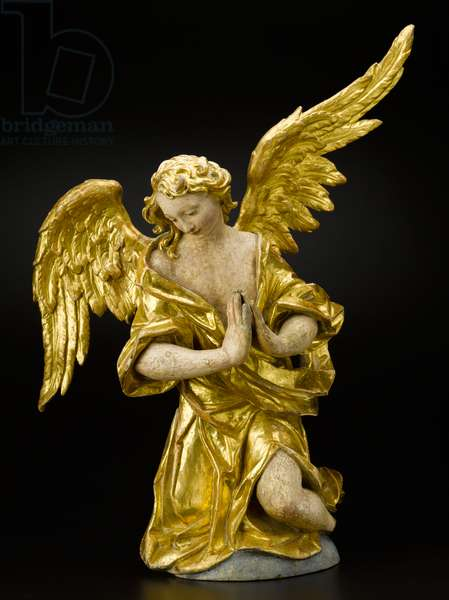 Adoring Angel, c.1735-1760 (wood, polychrome, and gold leaf)