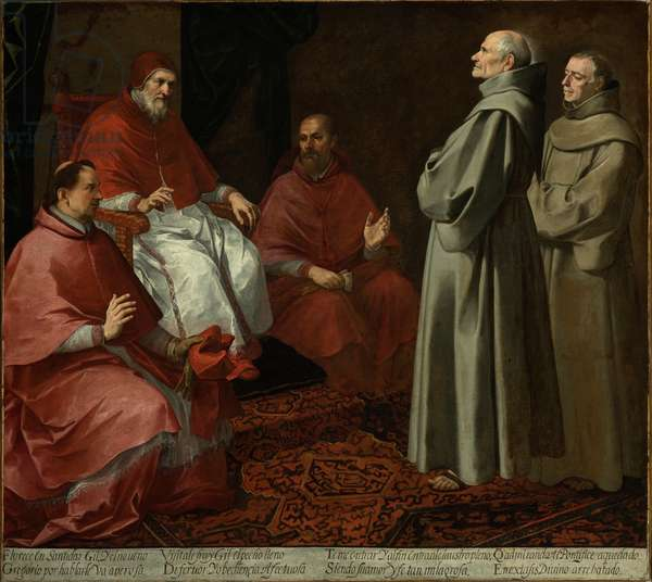 The Blessed Giles Before Pope Gregory IX, c.1645-1646 (oil on canvas)