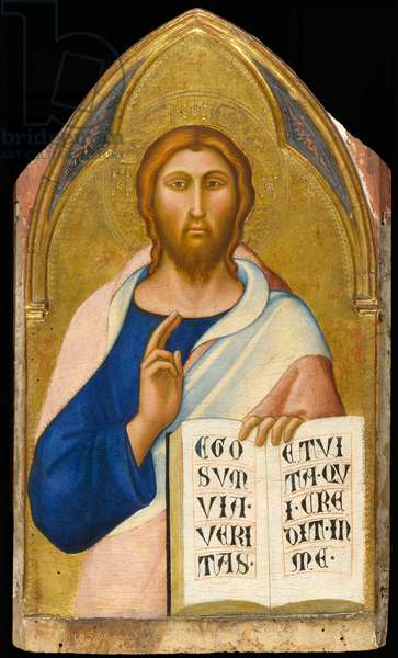 Christ Blessing, c.1355-1360 (tempera and gold leaf on panel)