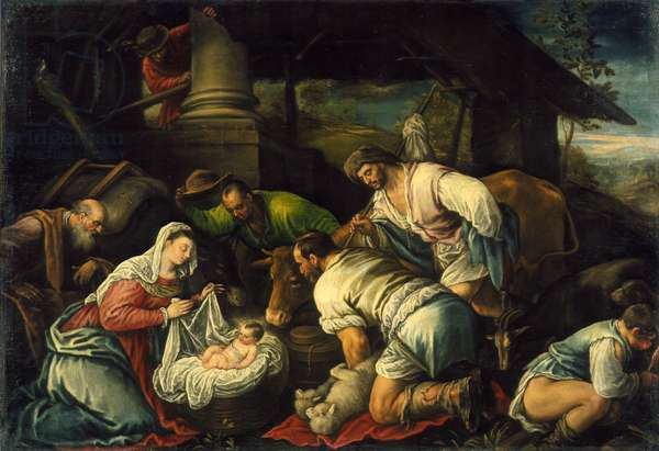 The Adoration of the Shepherds, c.1585-1590 (oil on canvas)