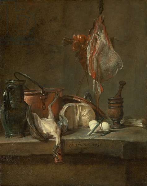 Still Life with Ray and Basket of Onions, 1731 (oil on canvas)