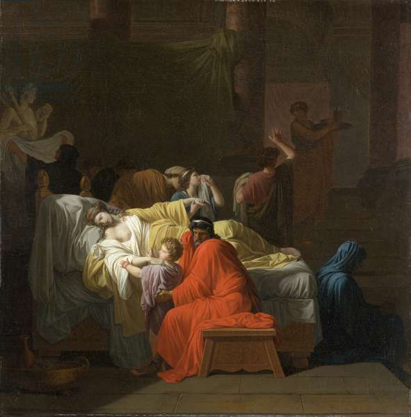 The Death of Alcestis, 1794 (oil on canvas)