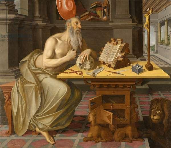Saint Jerome in His Study, circa 1560-1570 (oil on panel)